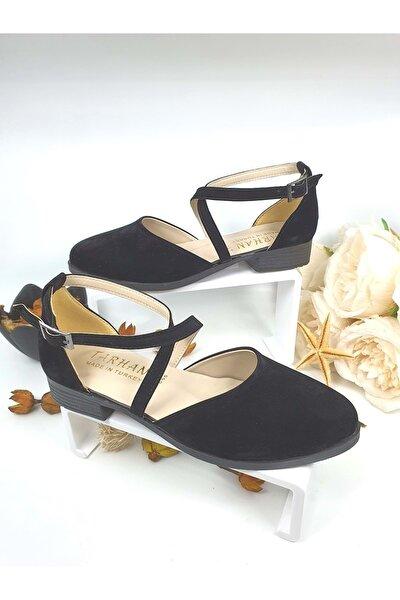 Bayan Kapalı Sandalet - - Siyah Süet - 36 - Nkt00032-siyah Süet-36