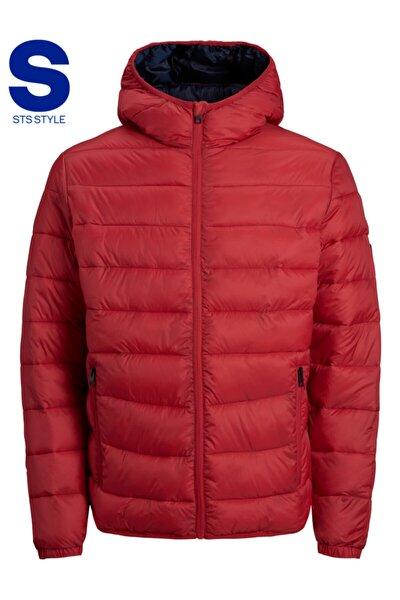 Jack Jones Magic Puffer Hood Sts Erkek Kırmızı Mont 12173751-17