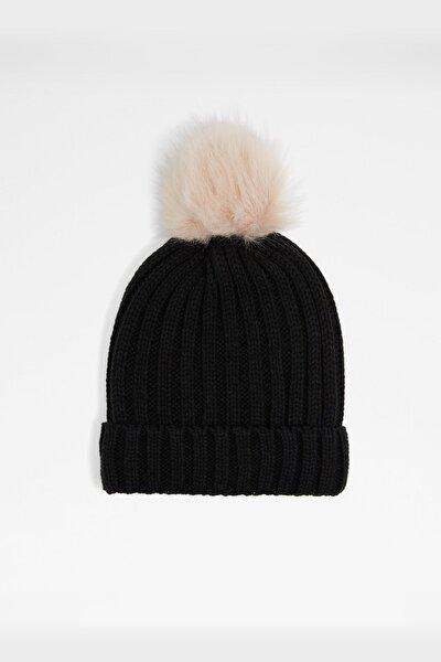 Alpersteın - Siyah Kadın Şapka & Şal & Eldiven