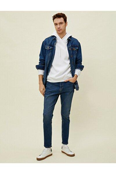 Erkek Lacivert Fit Jeans
