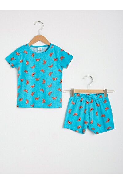 Erkek Çocuk Mavi Pijama Takım
