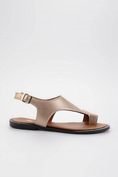 Lıght Altın Kadın Sandalet L0835121009