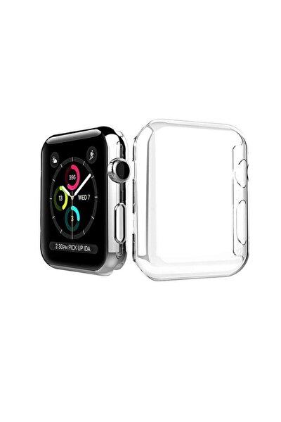 Apple Watch 1 2 3 4 5 44mm Silikon Şeffaf Renk Tam Koruyucu Kılıf Silikon 44mmşeffafsilikon