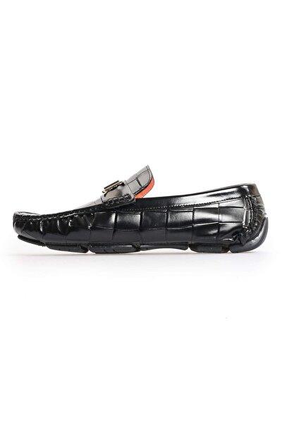 Siyah Deri H Tokalı Erkek Ayakkabı