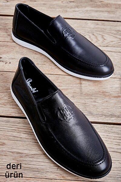 Hakiki Deri Siyah Erkek Casual Ayakkabı L1759051103
