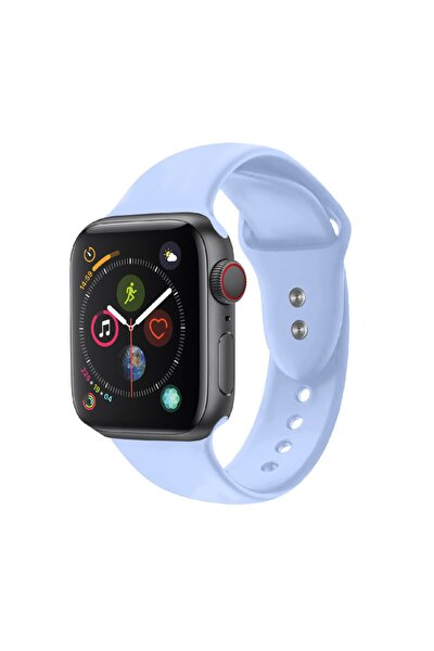 Apple Watch Saat Kayışı Çift Kilit Pimi Ile 38mm Küçük/orta Boy Açık Mavi