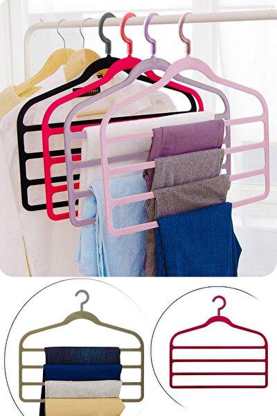 4 Katlı Plastik Düzenleyici Pantolon Elbise Askısı