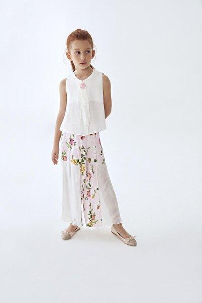 Kız Çocuk Çiçekli Pantolon