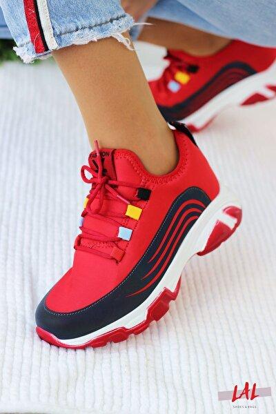 Star Bayan Spor Ayakkabısı-kırmızı