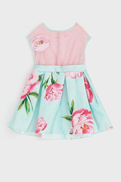 Kız Bebek Çiçekli Elbise