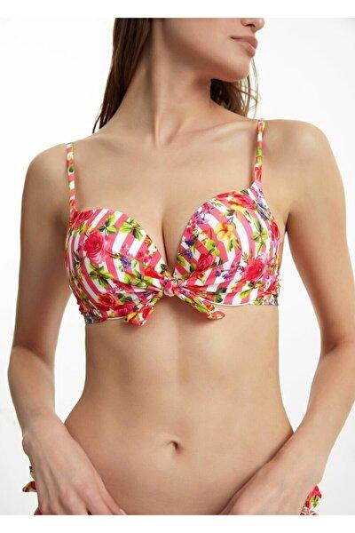 Önden Bağcıklı Full Dolgulu Bikini Üst
