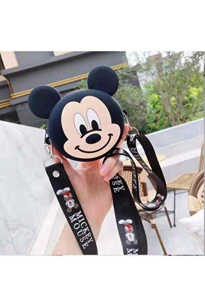 Mickey Mouse Tasarım Silikon Mini Omuz Askılı Çanta