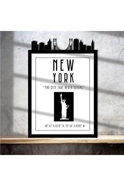New York - The City That Never Sleeps Çerçeveli Poster Tablo