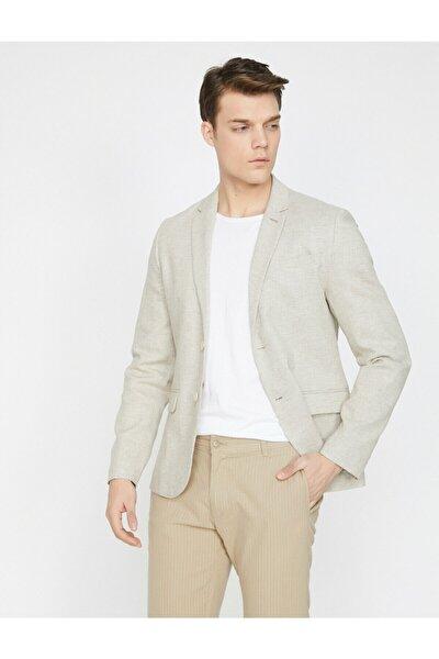 Cep Detayli Blazer Ceket