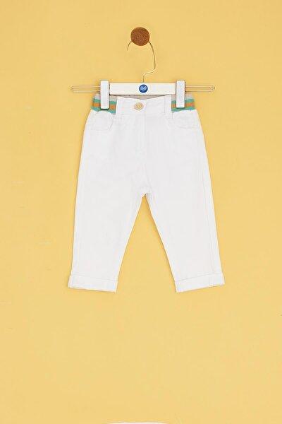 Erkek Bebek Beyaz Pantolon