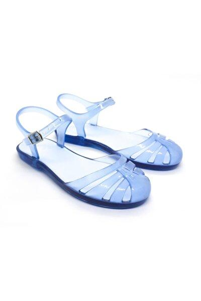 Kız Çocuk Günlük ve Plaj Şeffaf Mavi Sandalet