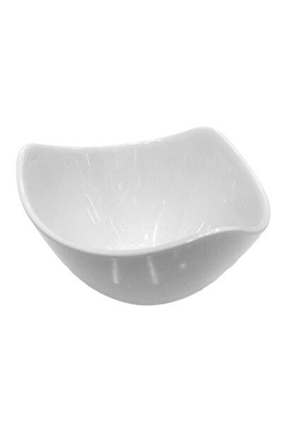 Asimetrik Kırılmaz Beyaz Salata Kasesi