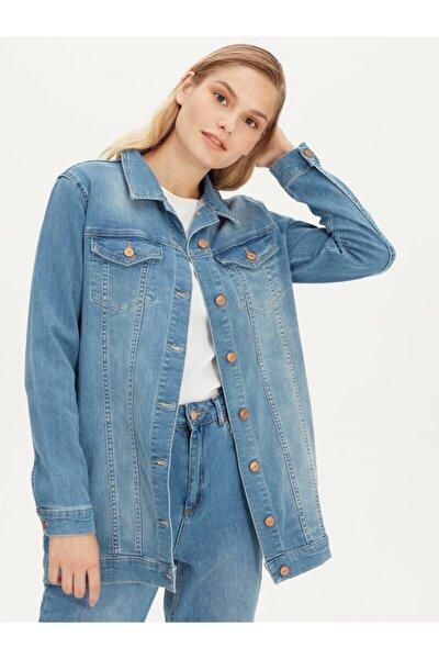 Kadın Açık Rodeo  Jean Ceket