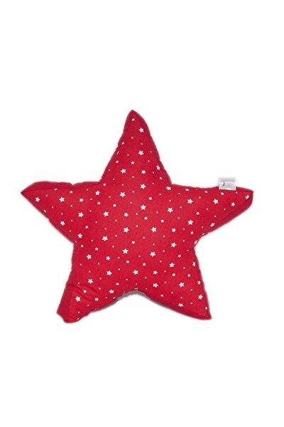By Nihalce Kırmızı Yıldız Yastık