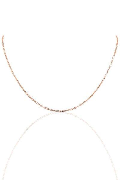 Gümüş 60 Cm Rose Aralıklı Figaro Zincir Sgtl10101rose