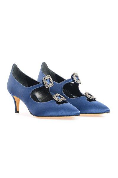 Lacivert Çift Tokalı Ayakkabı