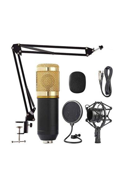 Profesyonel Bm 800 Stüdyo Kayıt Youtuber Mikrofon Seti Ve Stand + Pop Filtre