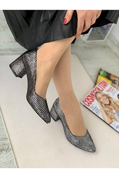 Yeni Sezon Kadın Topuklu Ayakkabı-gümüş