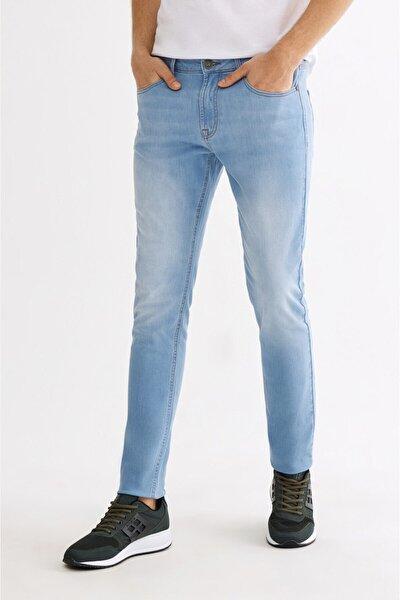 Erkek Açık Mavi Skinny Fit Jean Pantolon A01y3547