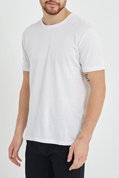Beyaz Basic Bisiklet Yaka T-shirt 1kxe1-44489-01