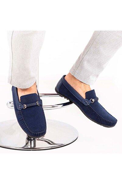 Ortopedik Loafer Erkek Ayakkabı Mln1102 Süet Lacivert