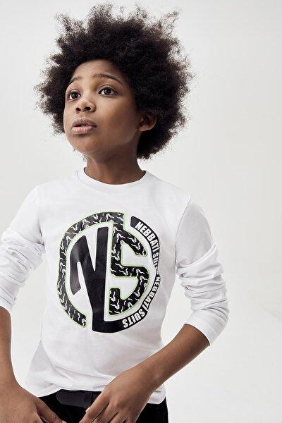 Erkek Çocuk Beyaz T-shirt 20fw0nb3524