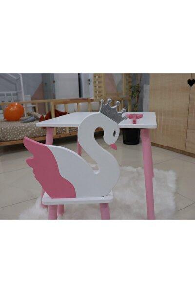 Kuğu Çocuk Masa 2 Adet Sandalye Takımı- Aktivite Masası
