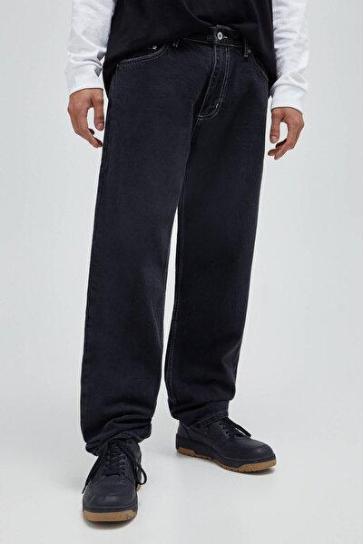 Erkek Soluk Siyah Wide Leg Jean 04685514