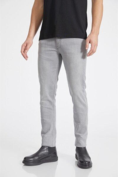 Erkek Gri Slim Fit Jean Pantolon A02y3578