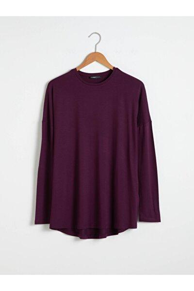 Kadın Koyu Mor T-Shirt