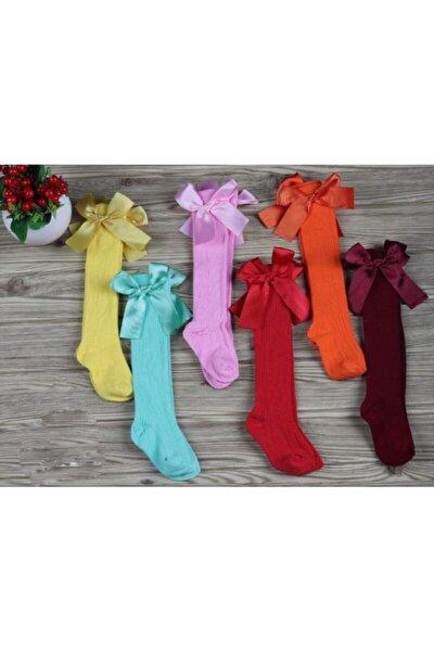 6'lı Fiyonklu Dizaltı Kız Çorabı