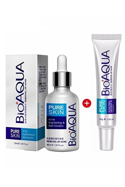 Pure Skin Sivilceye Meyilli Ciltler için Serum ve Krem Seti 2 Parça