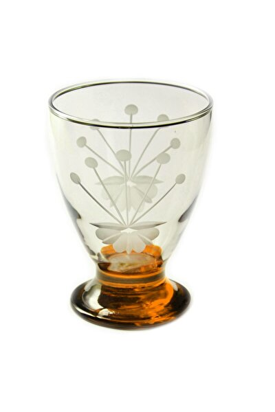 41011 Çın Çın 12 Adet ( Turuncu Frezya) Su-meşrubat Bardağı
