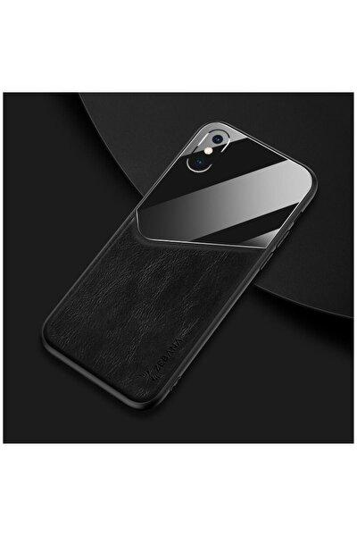 Apple Iphone Xs Max Kılıf Zebana New Fashion Deri Kılıf Siyah
