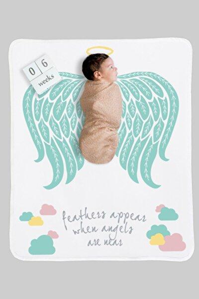 Mint Angel %100 Pamuklu Bebek Anı Battaniyesi 75cm X 95cm