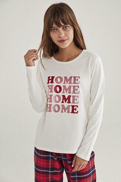 Beyaz Home Tişört