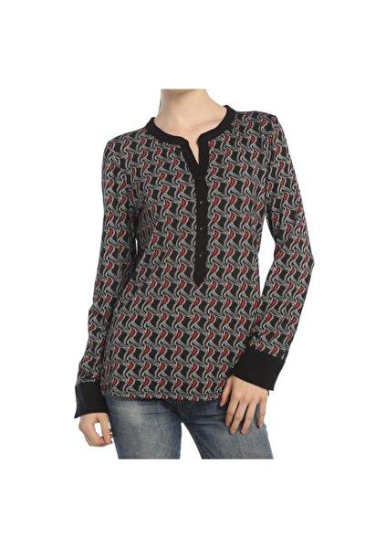 Kadın Siyah Trend Baskılı Tshirt - Bga272470