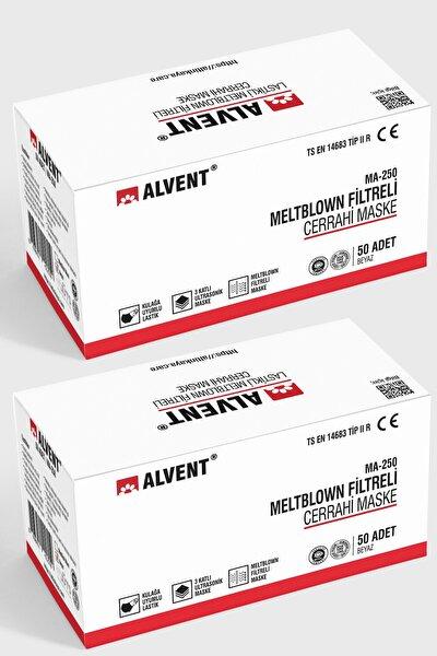 Beyaz Elastik Kulaklı Meltblown Maske 100 Adet (Tıp 2r) - En Az %98 Koruma - Ma-250