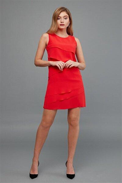 20kelb807 Elbise-kırmızı