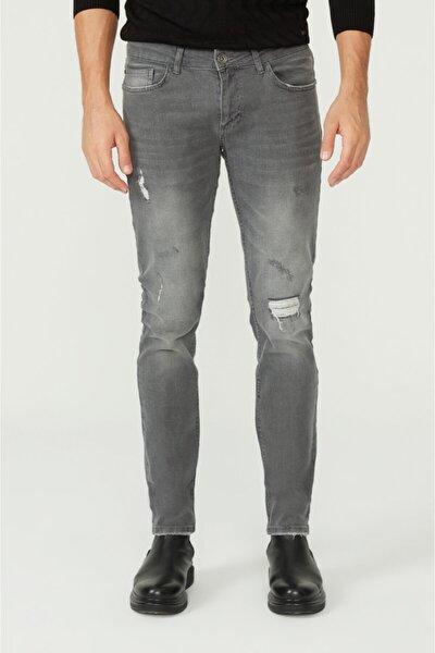 Erkek Gri Slim Fit Jean Pantolon A02y3599