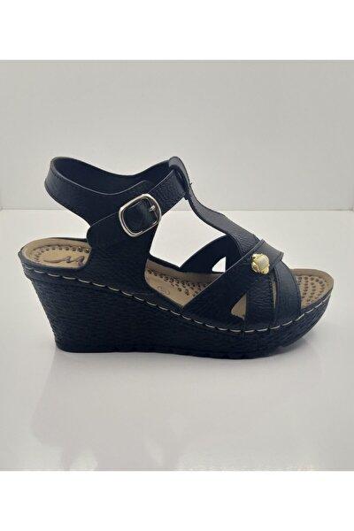 Kadın Dolgu Topuk Sandalet Cilt