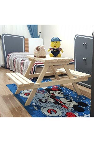 Montoserri Ahşap Çoçuk Piknik Masası , Çocuk Odası Eğitici Masa