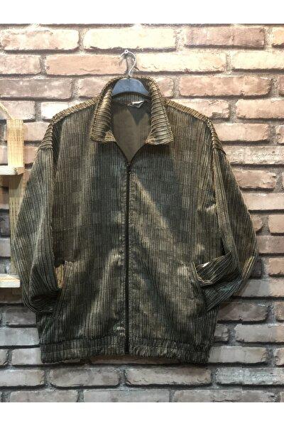 Erkek Yeşil Oversize Kadife Ceket