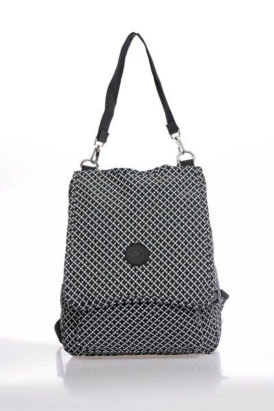 Smbky1119-0127 Siyah/beyaz Kadın Sırt Çantası