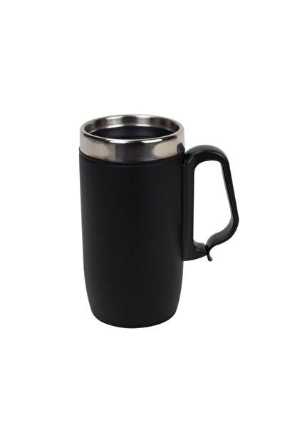 Lüx Çelik Termos Bardak Kulplu 280 ml - Siyah